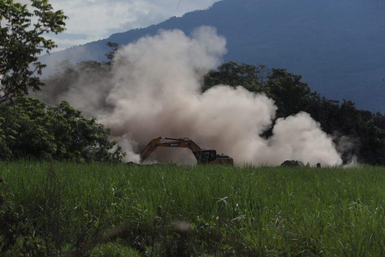 Aun hay varios lugares por explorar y determinar los daños por la erupción.