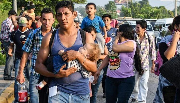 Más de siete mil hondureños avanzan hacia la frontera con EE. UU.. (Foto Prensa Libre. Hemeroteca PL)