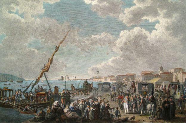La familia real portuguesa huyó hacia Brasil después de la invasión de las tropas de Napoleón Bonaparte. (Ayuntamiento de Lisboa)