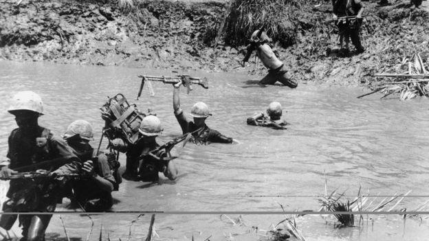 El ejército de EE.UU. llegó a tener cerca de 500.000 efectivos en Vietnam. GETTY IMAGES