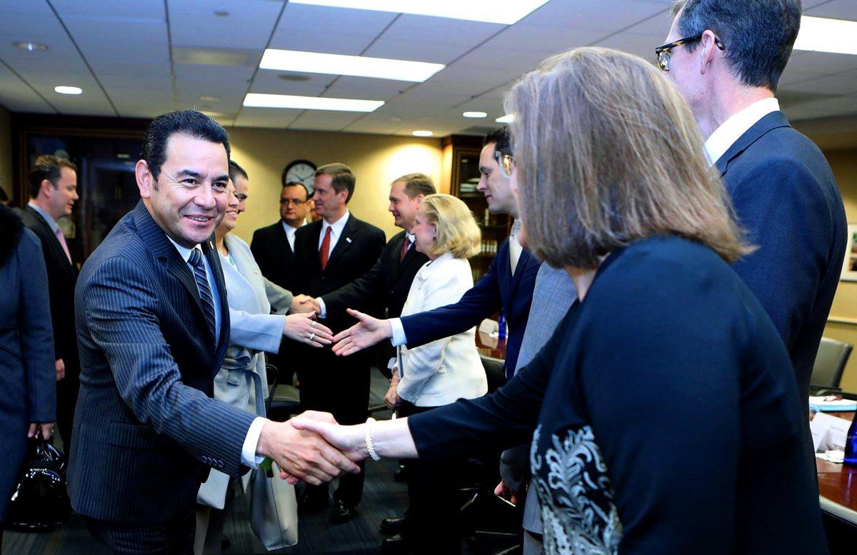 Jimmy Morales realiza visita a EE. UU. para participar en el Desayuno Nacional de Oración y hablar temas de cooperación. (Foto Prensa Libre: EFE)