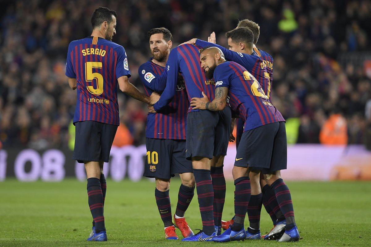 El Barcelona no pierde el paso en la Liga española y espera poder recuperar el liderato. (Foto Prensa Libre: AFP)