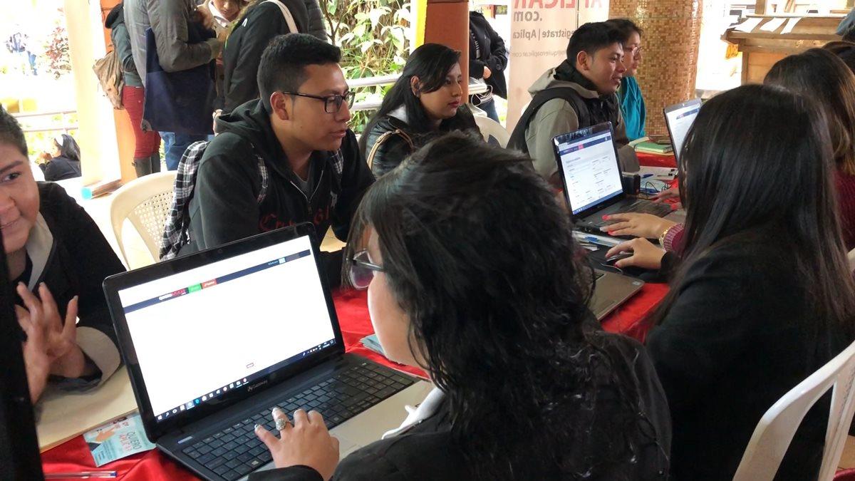 La primera de empleo que organizó la empresa quieroaplicar.com se llevó a cabo en enero pasado en la Universidad de San Carlos de Guatemala. (Foto Prensa Libre: Cortesía)