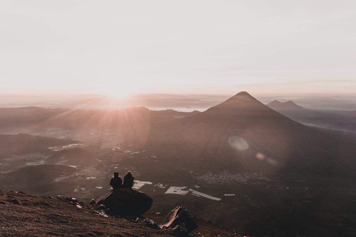 Buenos días desde la cima del Acatenango