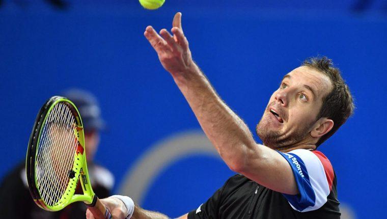Richard Gasquet durante el partido en el que avanzó a las semifinales. (Foto Prensa Libre: AFP)