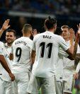 Los jugadores del Real Madrid festejaron en el Santiago Bernabéu. (Foto Prensa Libre: EFE)