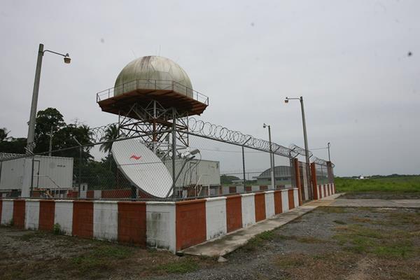 Radar de Escuintla que se encuentra en fase de pruebas. (Foto Prensa Libre: Hemeroteca PL)
