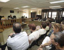 Audiencia en contra de sindicados de la muerte de abogado, Francisco Palomo. (Foto Prensa Libre: Edwin Bercián)