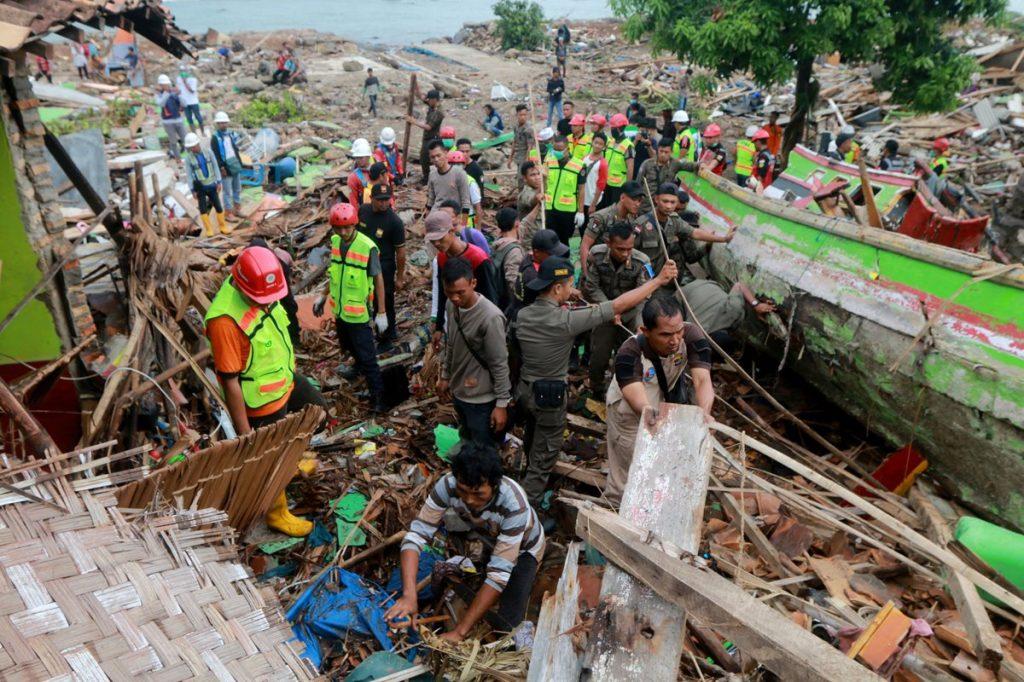 La costa de South Lampung, Sumatra fue duramente impactada por el tsunami.