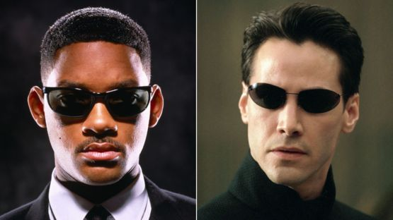 Will Smith y Keanu Reeves en sus respectivas películas Hombres de Negro y Matrix. SHUTTERSTOCK