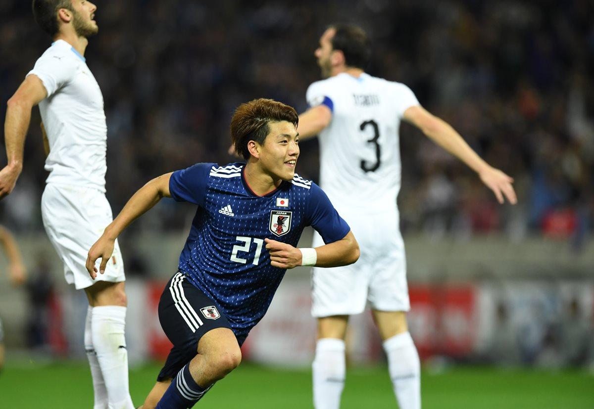 Japón superó a Uruguay en partido amistoso que se llevó a cabo en Saitama. (Foto Prensa Libre: AFP)
