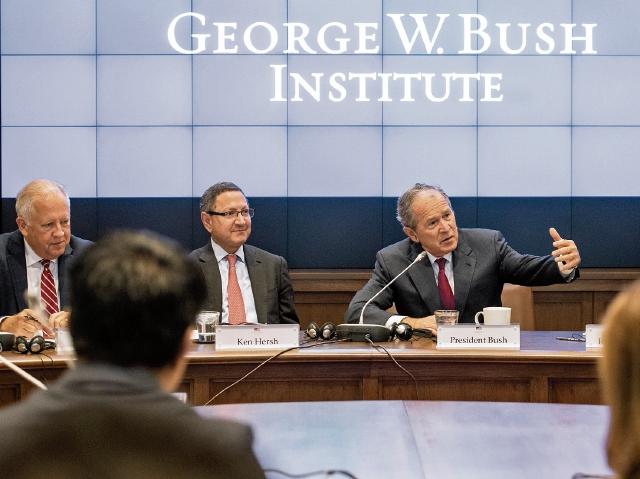 El pasado miércoles empezó la primera reunión de La Iniciativa de Crecimiento Económico del Instituto George W. Bush-SMU, parte del Proyecto de Prosperidad de América Central. (Foto Prensa Libre: Cortesía)