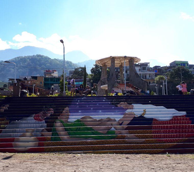 En los murales se resalta el papel de la mujer indígena. (Foto Prensa Libre: Cortesía Inguat)