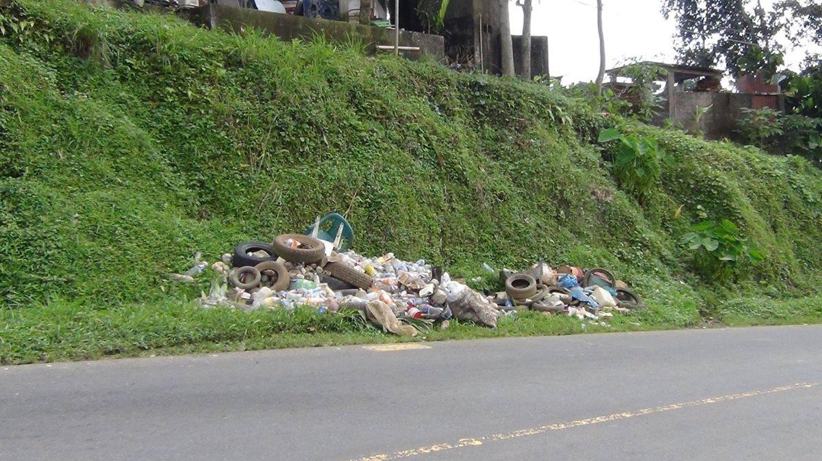 La acumulación de basura aumenta las posibilidades reproducción del zancudo transmisor del dengue. (Foto Prensa Libre: Fred Rivera)