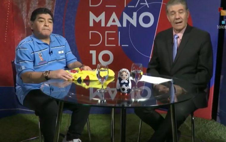 Diego Maradona señaló que no entiende como designaron a Mark Geiger para el partido Inglaterra - Colombia.
