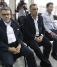 Ex diputado Manuel Barquín -izquierda- Jaime Martínez -al centro- durante audiencia del caso Lavado y Política. (Foto Prensa Libre: Hemeroteca PL)