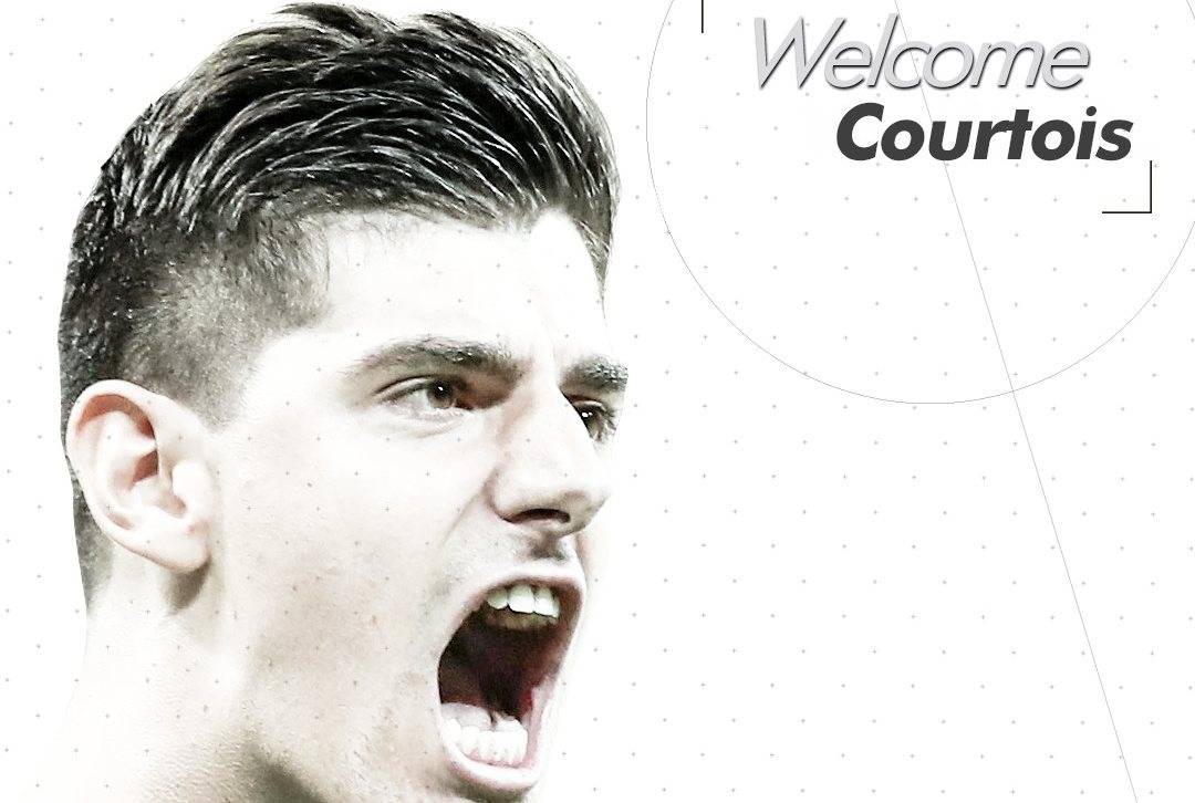 Thibaut Courtois es nuevo jugador del Real Madrid. (Foto Prensa Libre: Twitter Real Madrid)