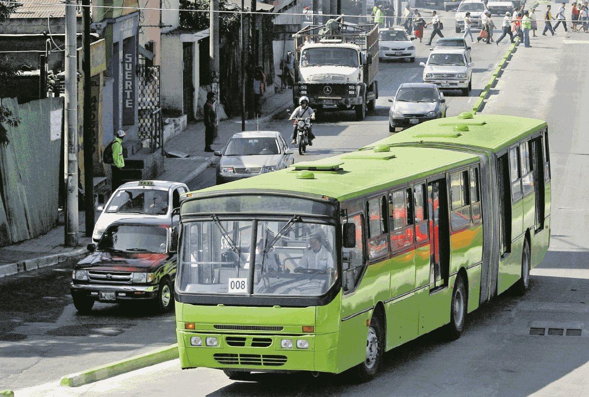 La línea 7 del Transmetro recorrerá el Anillo Periférico desde el hipódromo del Norte hasta la Usac. (Foto Prensa Libre: Hemeroteca PL)