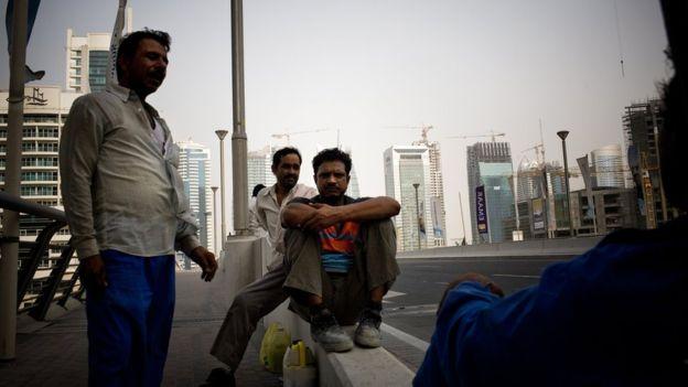 India es fuente de trabajadores migrantes para la construcción en Dubái.  GETTY IMAGES