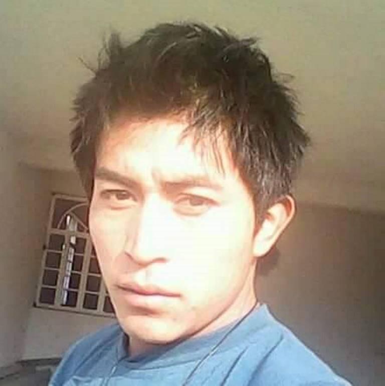 Jaime López, de 26 años, murió soterrado por un derrumbre ocurrido en uno los túneles de la mina Marlin, en San Miguel Ixtahuacán, San Marcos. (Foto Prensa Libre: Aroldo Marroquín)