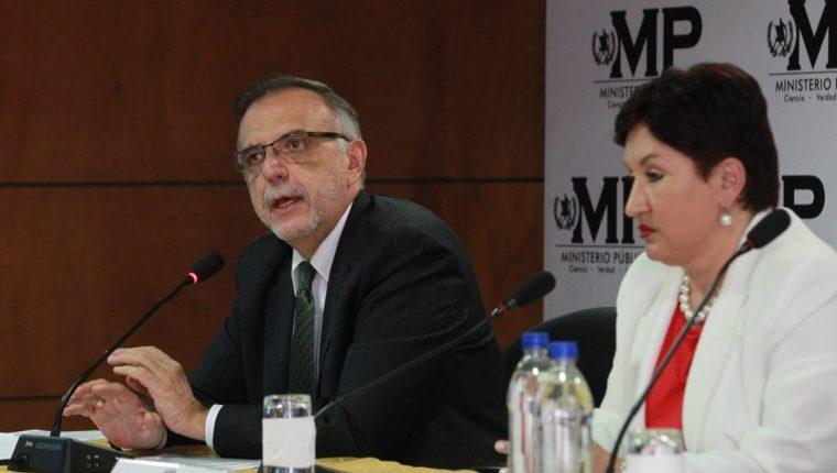 El comisionado de la Cicig, Iván Velásquez y la fiscal general, Thelma Aldana tienen una alta aprobación de la población según la encuesta de Prensa Libre. (Foto Prensa Libre: Hemeroteca PL)