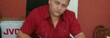 Wilder García, de 38 años, fue atacado cuando salía de su vivienda en Jalpatagua, Jutiapa. (Foto Prensa Libre: Cortesía)