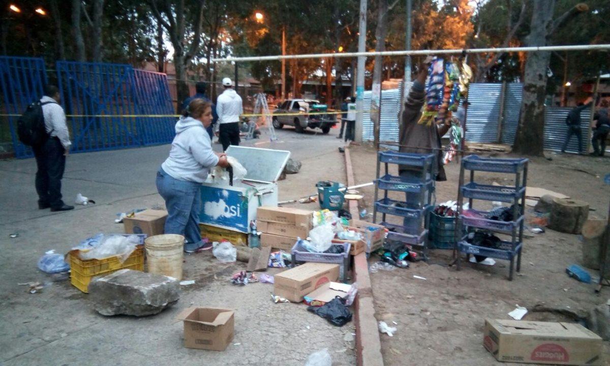 Movilizan a vendedores frente al Hospital Roosevelt
