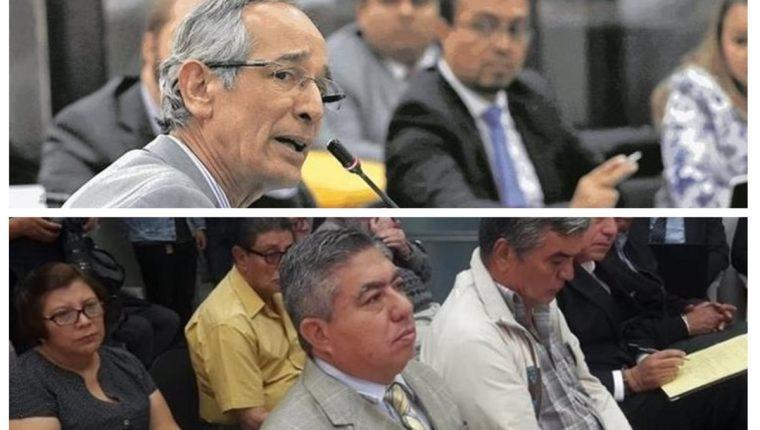 En el Juzgado Undécimo Penal se prevé que comparezca el expresidente Álvaro Colom Caballeros y el que fue su secretario de seguridad, Carlos Quintanilla. (Foto Prensa Libre: Elaboración propia)