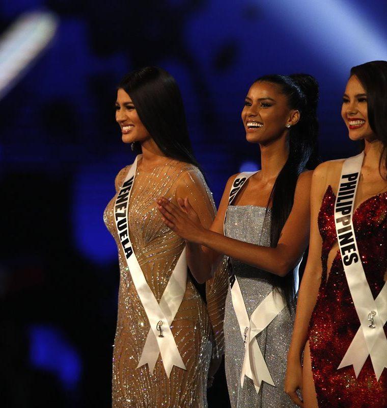 Imagen de las tres finalistas de Miss Universo.