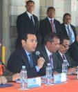 El presidente Jimmy Morales realizó otro llamado para no manejar bajo los efectos de bebidas alcohólicas. (Foto Prensa Libre: Álvaro Interiano)