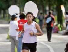 STHEPANY CHAMALÉ fue la ganadora de la categoría de 5 kilómetros.