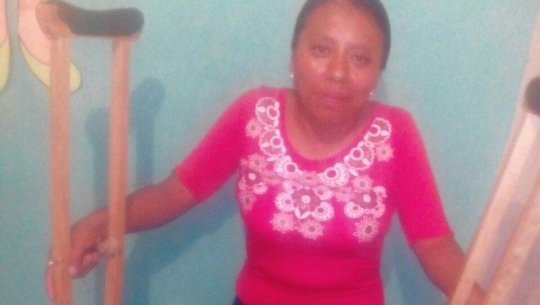 Jacinta Lem Ti se recupera de la fractura de fémur. (Foto Prensa Libre: Cortesía Jacinta Lem Ti)