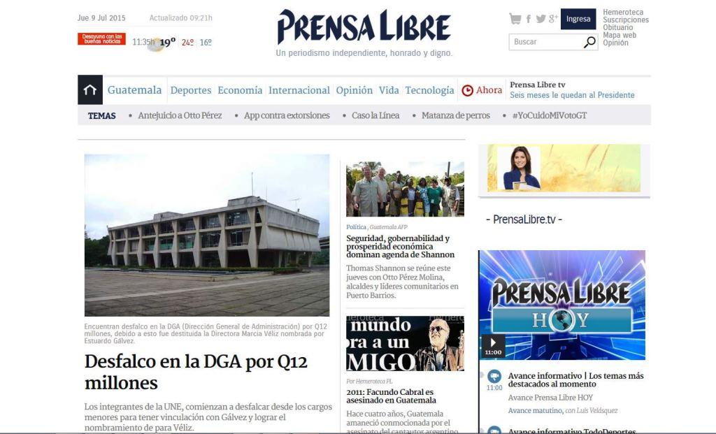 Suplantan identidad de Prensa Libre.com para atacar a políticos