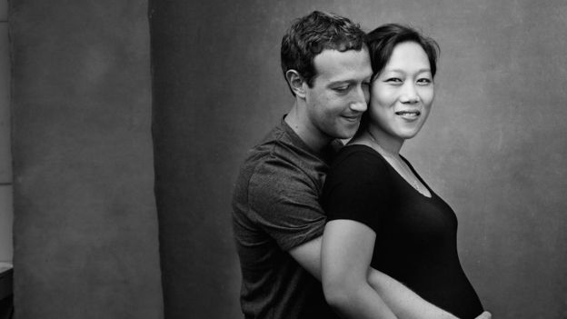 Zuckerberg también compartió esta foto con Priscilla embarazada. (MARK ZUCKERBERG/FACEBOOK)