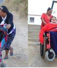 Abuela y madre luchan a diario para sacar adelante a su nieta e hijo. (Foto Prensa Libre).