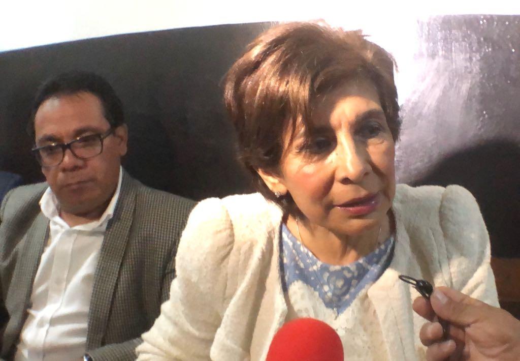 La secretaria general del partido Encuentro Por Guatemala (EG), la diputada Nineth Montenegro, antes de entrar a presentar pruebas de descargo. (Foto Prensa Libre: Javier Lainfiesta)