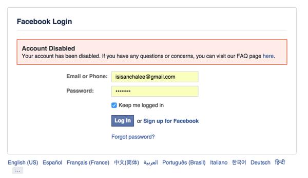 Facebook cancela cuenta de usuaria por pensar que era una terrorista
