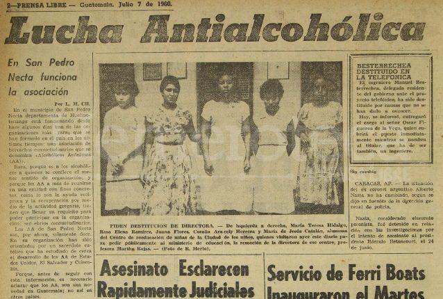 Primera noticia del 7 de julio de 1960 dando a conocer el movimiento de AA. (Foto: Hemeroteca PL)