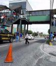 El accidente tuvo lugar en la Calzada Aguilar Batres. (Foto Prensa Libre: Gabriela López)