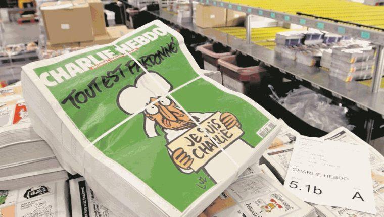 Portada de uno de los semanarios de Charlie Hebdo. Foto Prensa Libre: Hemeroteca.