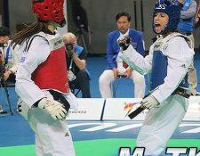 Elizabeth Zamora ganó dos de los tres combates en Corea del Sur. (Foto Prensa Libre: MásTaekuondo)