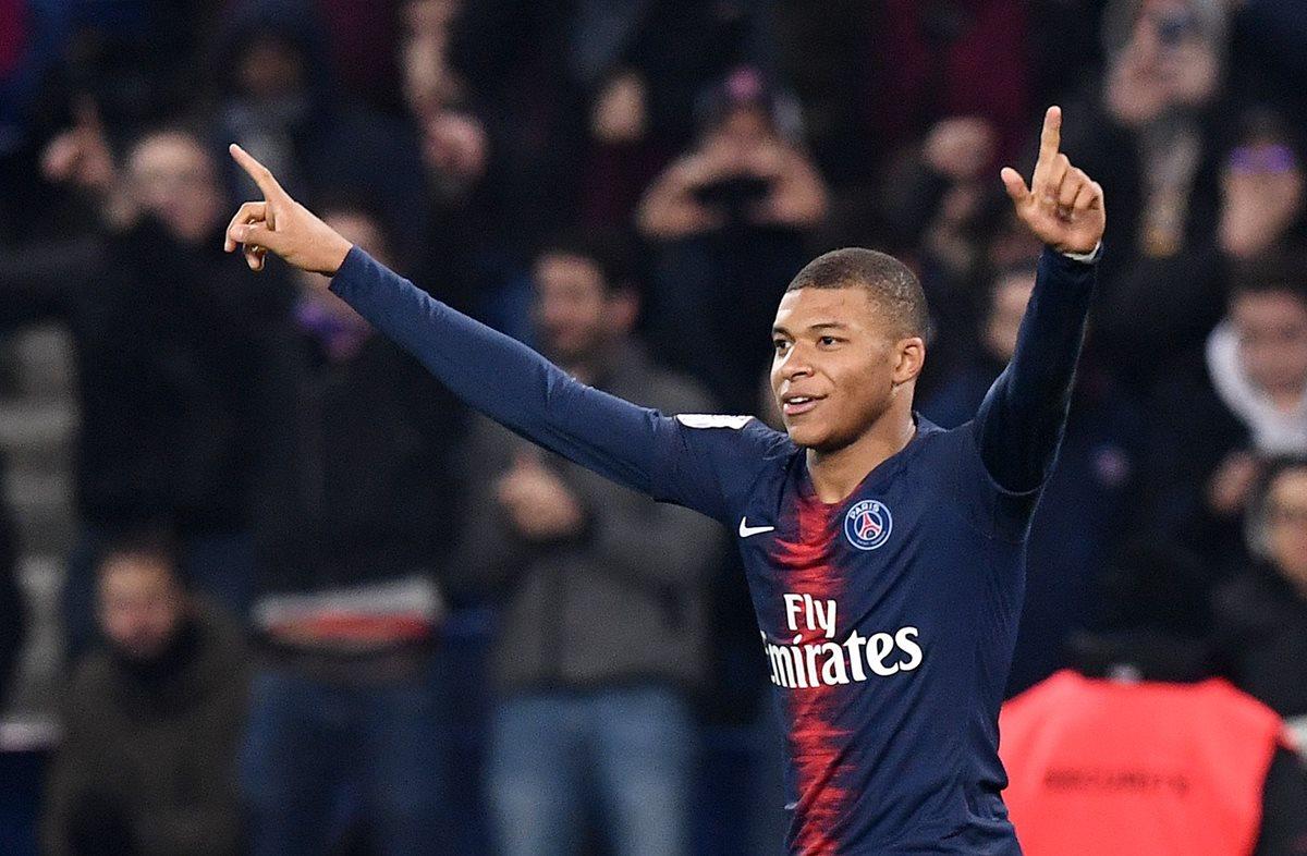 Kylian Mbappé destacó en el 2018, tanto con el PSG, como con la Selección de Francia, en el Mundial de Rusia 2018. (Foto Prensa Libre: AFP)