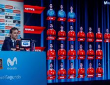 El técnico Julen Lopetegui, de la Selección de España, dio a conocer la lista preliminar de convocados para el Mundial de Rusia 2018. (Foto Prensa Libre: EFE)