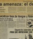Notas de Prensa Libre de 1978 y 1985 alertando sobre el dengue en el país. (Foto: Hemeroteca PL)