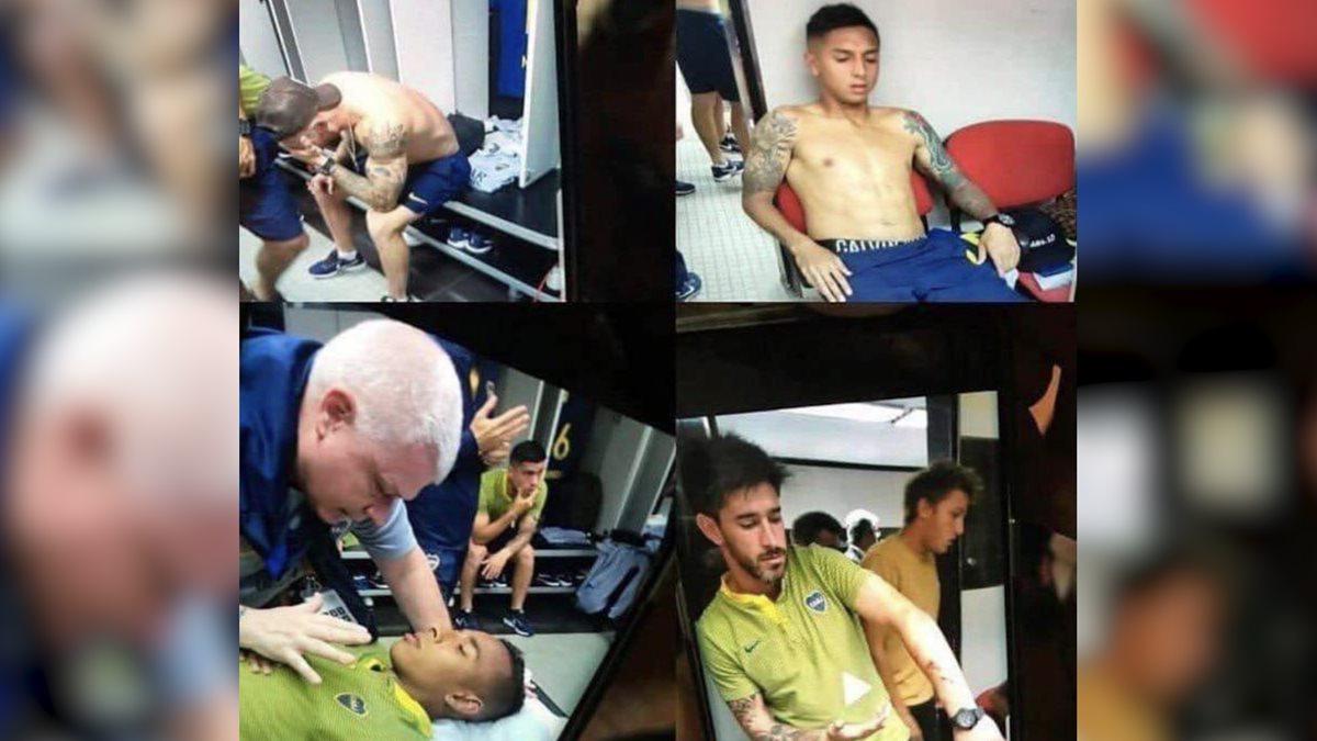 Los jugadores de Boca Juniors fueron afectados físicamente por el ataque de los aficionados de River al bus del equipo xeneize. (Foto Prensa Libre: Radio La Red)
