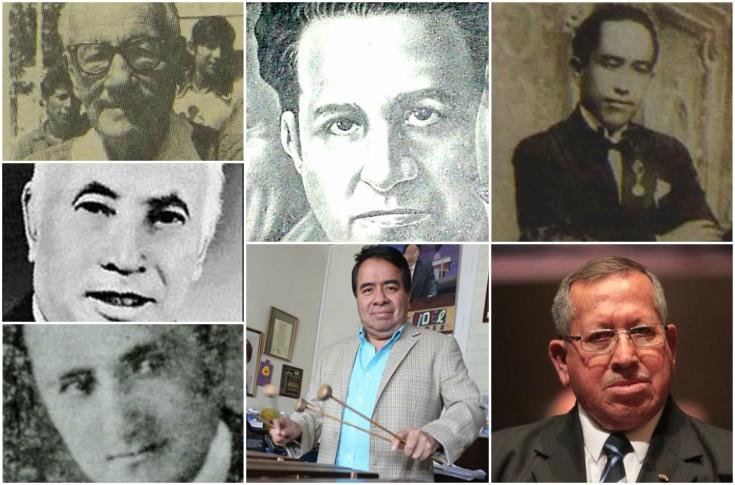 Gumercindo Palacios, Mariano Valverde, Rocael Hurtado, José Betancourt, Víctor Aguilar, Fidel Funes y Guillermo de León. (Foto Prensa Libre Hemeroteca PL)
