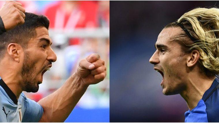 A Suárez no le gusta para nada que Griezmann se sienta uruguayo. (Foto Prensa Libre: AFP)