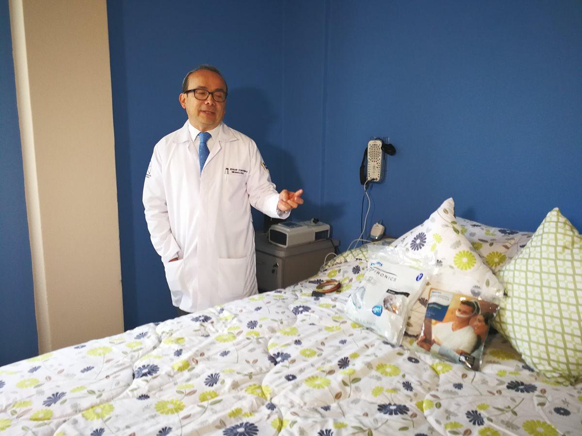 En la Clínica del Sueño se atenderá a pacientes con trastornos de sueño, es la primera que se inaugura en el Sistema de Salud Pública. (Foto Prensa Libre: Ana Lucía Ola)