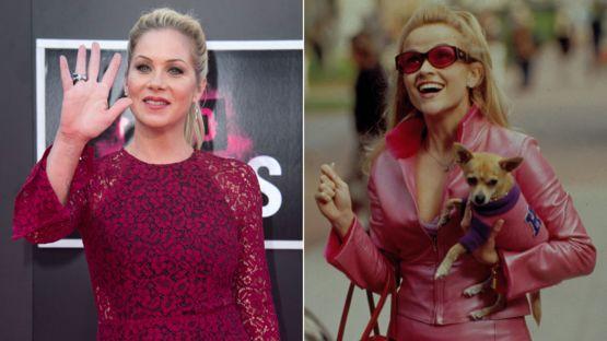 """Christina Applegate dijo que Witherspoon """"había hecho un mejor trabajo"""" del que ella hubiera hecho en """"Legalmente rubia"""" GETTY IMAGES/SHUTTERSTOCK"""
