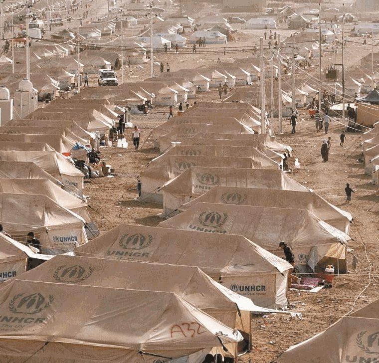 Un campo de ACNUR que espera la llegada de refugiados sirios provenientes de un centro de tránsito en el norte de Irak. (Foto: EFE)